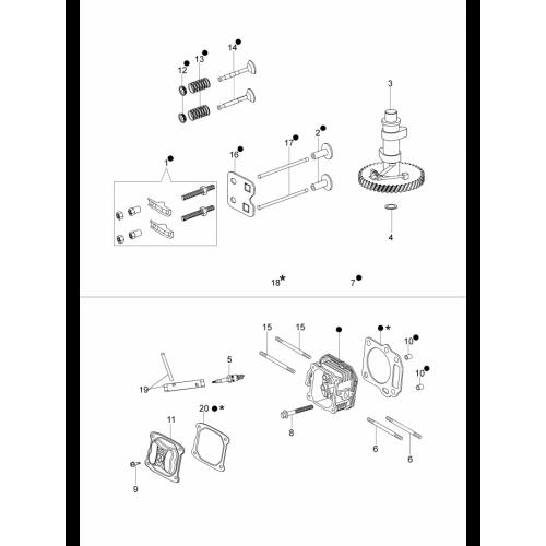 Газонокосилки Oleo-Mac, G44PKComfortPlus, Головка блоку циліндрів і клапанів в Украине