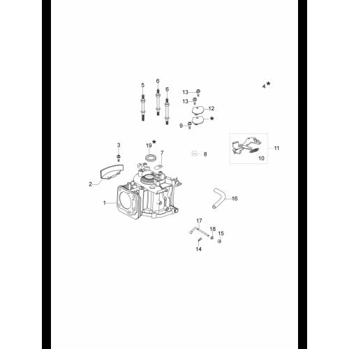 Газонокосилки Oleo-Mac, G44PKComfortPlus, Циліндр і картер в Украине